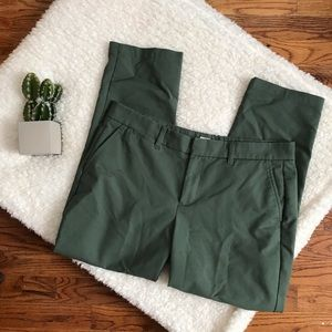 Gap | Green Slim Cropped Ankle Pants